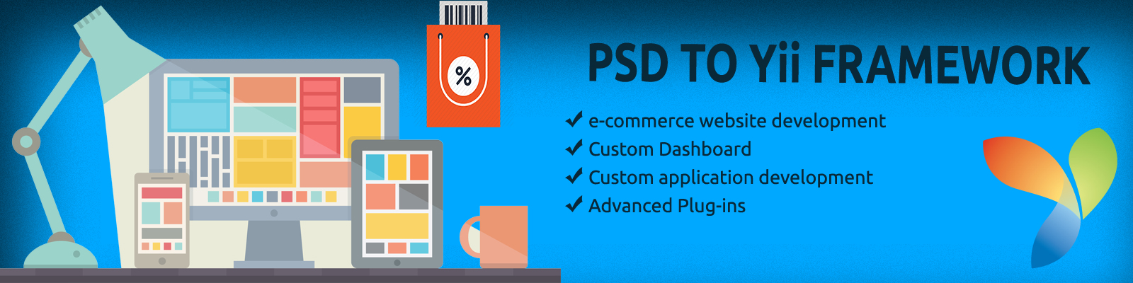 psd to yii conversion services